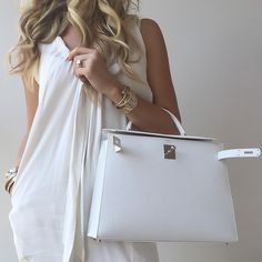 White on white is always a good idea.- #Marni dress and #Hermés #KellySellier32.