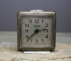 Vintage Alarm CLOCK Made in Russia Non working by VintageSupplyCo