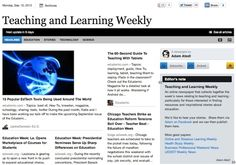 Sep 10 - Teaching and Learning Weekly: An online newspaper that collects together the week's news relating to teaching and learning - particularly for those interested in finding resources and inspirational stories about education.  Read and subscribe free at: http://paper.li/f-1328546324
