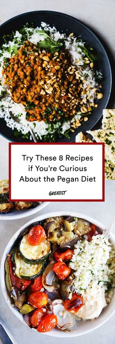 7 Pegan Recipes That Combine the Best of Paleo and Vegan Diets Coined by Dr. Mark Hyman in the pegan diet is a combination of Paleo and vegan that focuses on eating whole, unprocessed foods. Check out these seven recipes if you want to give it a go. Raw Food Recipes, Indian Food Recipes, Diet Recipes, Vegetarian Recipes, Healthy Recipes, Lunch Recipes, Cake Recipes, Eat Healthy, Keto Diet Bodybuilding