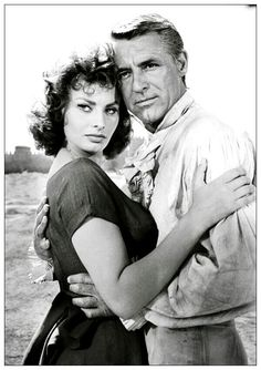 Sophia with Cary Grant in Houseboat