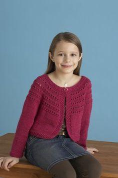 Free Knitting Pattern 70807AD Fresh-Picked Color 3/4-Sleeve Cardigan : Lion Brand Yarn Company