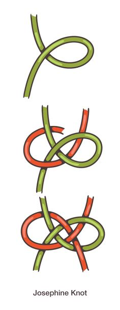 Josephine Knot-great decorative knot for scarves. It's not that hard with a little practice. Looks good with a striped scarf.