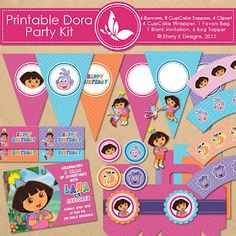 Shery K Designs: Free Printable Dora Birthday Kit