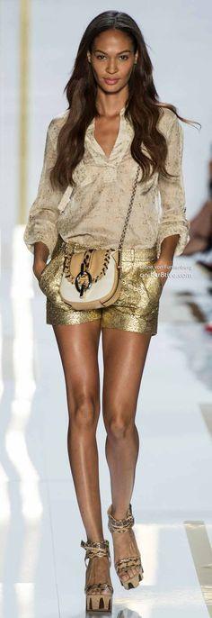 Gold And Glitter~ Diane Von Furstenberg ~ Spring 2014 New York Fashion Week ~ bcr8tive