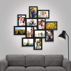 Germain Gallery Collage Wall Hanging 12 Opening Photo Sockets Picture Frame Set