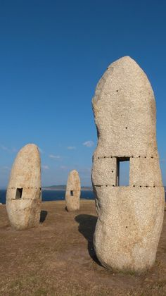 La Coruña, Menhirs - the culture of the Celts - Galicia  Spain