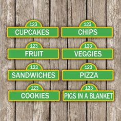 Sesame Street Food Labels - Sesame Street Birthday Party - Personalized DIY Printable