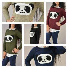 14fa535881b3 Γυναικείο πλεκτό πουλόβερ μονόχρωμο με σχέδιο πάντα. Διαθέσιμο σε  Μπεζ