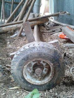 Asse con ruote per trasporto in generale