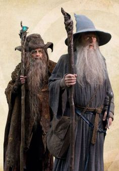 Wizards Radagast the Brown & Gandalf the Grey - The Hobbit Lord Of Rings, Fellowship Of The Ring, Legolas, Narnia, Radagast The Brown, Midle Earth, John Howe, Elfa, An Unexpected Journey