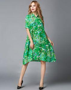 VIPme (VIPSHOP Global) - GUSTAVO ARANGO Green Lapel Floral Sweet Mid-Length Floral Outerwear - AdoreWe.com