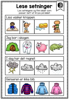 Preschool Letters, Preschool Worksheets, Teaching Kids, Teaching Resources, Norway Language, Daycare Curriculum, Grammar Humor, Picture Writing Prompts, Languages Online