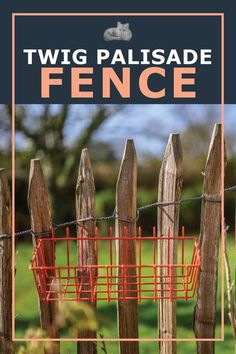 A twig palisade fence is made by attaching vertical twigs to two wires strung parallel to the ground between fence posts or trees. They are often made by attaching upright branches or twigs to horizontal wooden stringers too. The nice part about this type of fence is that you can leave it partly finished and come back to it if you run out of twigs, simply wrap the wire loosely in place and then you can unwind it when you want to do some more. #diyfence #twigfence #diygardencrafts Garden Junk, Garden Art, Garden Design, Palisade Fence, Fox Farm, Types Of Fences, Fence Posts, Diy Fence, Rustic Crafts