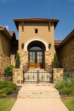 Tuscan Style Home by Jim Boles Custom Homes - mediterranean - entry - other metro - Jim Boles Custom Homes L.L.C.