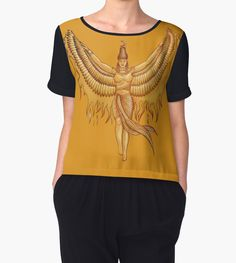 Isis, Goddess Egypt with wings of the legendary bird Phoenix by #beatrizxe | #redbubble #tshirt #tee Illustration of a woman that represented to Isis, a godness of the ancient Egipt. #God #Goddess #Egipt #Isis #wing #wings #bird #legendary #Phoenix #Illustration #woman #egyptian #traditional #digital #fire  #ink #color #drawing #vintage #papyrus #pharaoh #mythology #sketch #ancient #historical