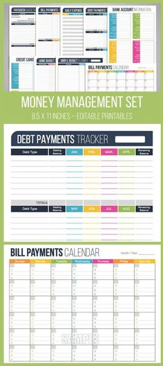 Monthly Bill Payment Checklist {Printable Bill pay and Free printable