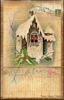 free printables for Christmas Vintage Christmas Cards, Xmas Cards, Vintage Cards, Vintage Paper, Vintage Postcards, Vintage Images, Victorian Christmas, Christmas Past, Christmas Images