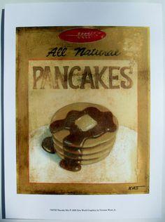 $15.50  Breakfast ART Print BY Norman Wyatt JR Pancake MIX | eBay
