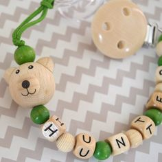Personalized pacifier clip beaded pacifier clip pacifier by orangeandcoco, $20.00