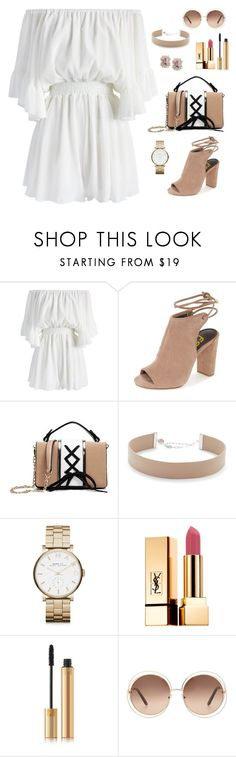 """""""Untitled #296"""" by bajka2468 ❤ liked on Polyvore featuring Chicwish, Jennifer Zeuner, Marc by Marc Jacobs, Yves Saint Laurent and Chloé"""