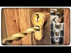 How to drill the lock insert in the door? Emergency opening of doors without a key Wooden Door Design, Wooden Doors, Diy Lock, Backyard Sitting Areas, Life Hacks Youtube, Front Gate Design, Useful Life Hacks, Diy Home Crafts, Diy Tools