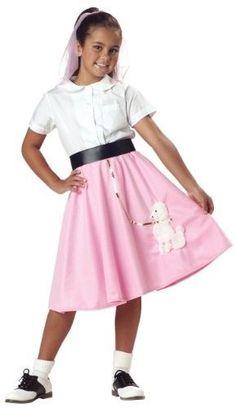 Child Soda Pop Girl Retro Fancy Dress 38734 1950/'s Waitress Costume 3-4 Years