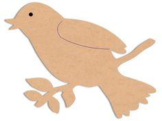 OISEAU : Silhouettes en bois : Animaux : Oiseau N°2