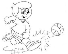 Physical Activity Printable Coloring Pages Coloring page Pinterest