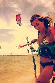 Ever seen an unattractive kiteboarder? Awesome sport, beautiful people!  Make sure to check out http://www.talic.com for the best kitesurfing storage rack