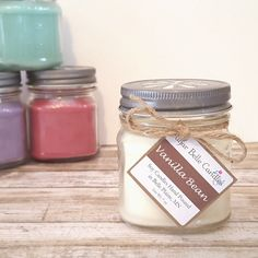 Hand Poured Soy Candles   Mason Jar Candles  by SugarBelleCandles