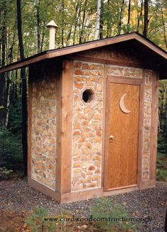 Cordwood Outhouse / This would make a great sauna house. My grandfather a Fin always made his own sauna's. Cordwood Outhouse / This would make a great sauna house. My grandfather a Fin always made his own sauna's. Outside Toilet, Outdoor Toilet, Cordwood Homes, Sauna House, Outdoor Bathrooms, Natural Building, Outdoor Living, Outdoor Decor, Shed Plans