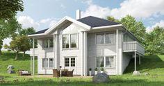 """""""Aurora"""" et herskapelig hus fra Systemhus katalogen Aurora, House Plans, Shed, Outdoor Structures, Blueprints For Homes, Home Plans, Backyard Sheds, House Design, Coops"""
