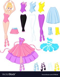 Buy Ballerina Dresses by Platinka on GraphicRiver. Paper doll with clothes for the ballerinaFind Ballerina dresses Stock Vectors and millions of other royalty-free stock photos, illustrations, and vectors in the Shutterstock collection. Frozen Paper Dolls, Disney Paper Dolls, Barbie Paper Dolls, Vintage Paper Dolls, Fabric Dolls, Disney Princess Coloring Pages, Disney Princess Colors, Princess Shoes, Paper Doll Template