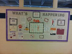 Our school PTA board. Got the folders from office max. Awesome way to keep multiple sheets for people to take.