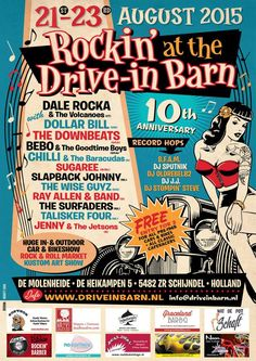 Rockin' at the Drive-in Barn 21st-23rd August 2015 Holland