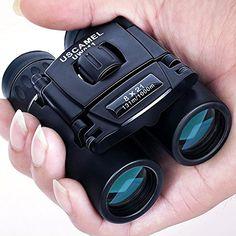 USCAMEL Folding Pocket Binoculars Compact Travel Mini Telescope HD Bak4 Optics Lenes Easy Focus 8x21 Colour Black *** Click on the image for additional details.