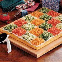 patchwork vegetarian pizza - love the idea!