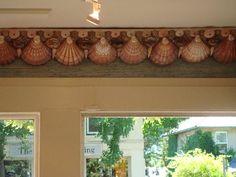 Shell crown molding for Amano in Bridgehampton designed by Robin Grubman Grubm5@yahoo.com