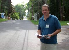 New one-day campaign record --- visited 204 homes today. Have to admit, I'm a little tired tonight.
