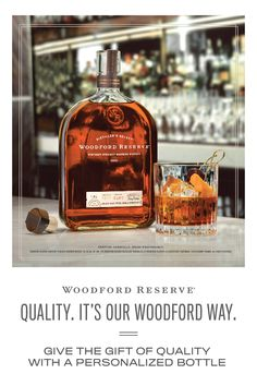 Quality is what we're judged against. If we're not great, nothing else matters. It's our Woodford way. A personalized bottle of Woodford Reserve makes the perfect gift for the bourbon lover on your list. Learn more about engraving and personalized labels. Cigars And Whiskey, Bourbon Whiskey, Whisky, Refreshing Drinks, Yummy Drinks, Bar Drinks, Alcoholic Drinks, Tequila, Woodford Reserve Bourbon