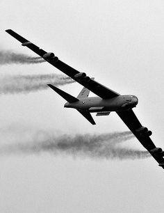 B-52H Bomb Bay Doors Open and Smoking!