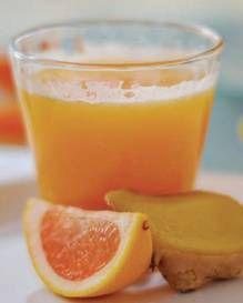 Citrus Ginger Splash made with lemon, tangerine, grapefruit, orange, and ginger essential oils