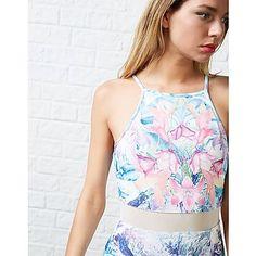 #ARK LOVES Ginger Fizz Sorbet Mesh Panel Dress