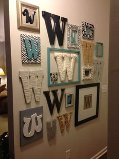 Initial Wall Plaques Monogram Decor Diy Home Accessories