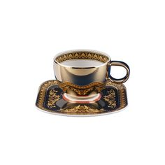 Order Versace Medusa Espresso cup & saucer made of Porcelain easily and securely online. Tea Cup Set, My Cup Of Tea, Cup And Saucer Set, Tea Cup Saucer, Tea Sets, Espresso Cups, Coffee Cups, Medusa, Teapots And Cups
