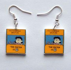 Peanuts Gang Lucy the Dr is In   Psychiatric Earrings by Murals4U, $7.99