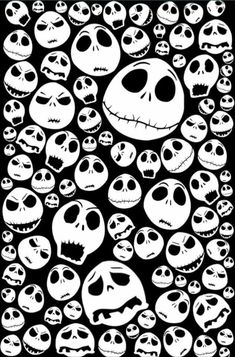 Halloween Jack Skellingtons emoticon face iPhone 4 4s 5 5c 6, pillow case, mugs…  Print custom made Halloween fabrics on http://www.digitalfabrics.com.au/