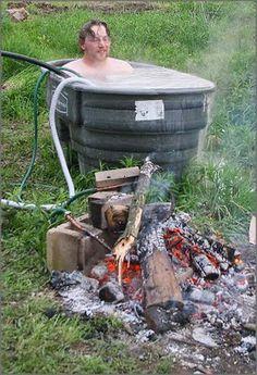 Anastasia's Adventures: Wood fired Hot tub.