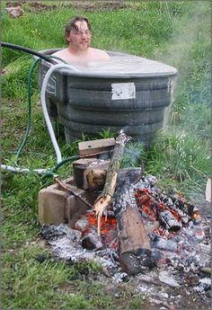 diy wood fired hot tub heater